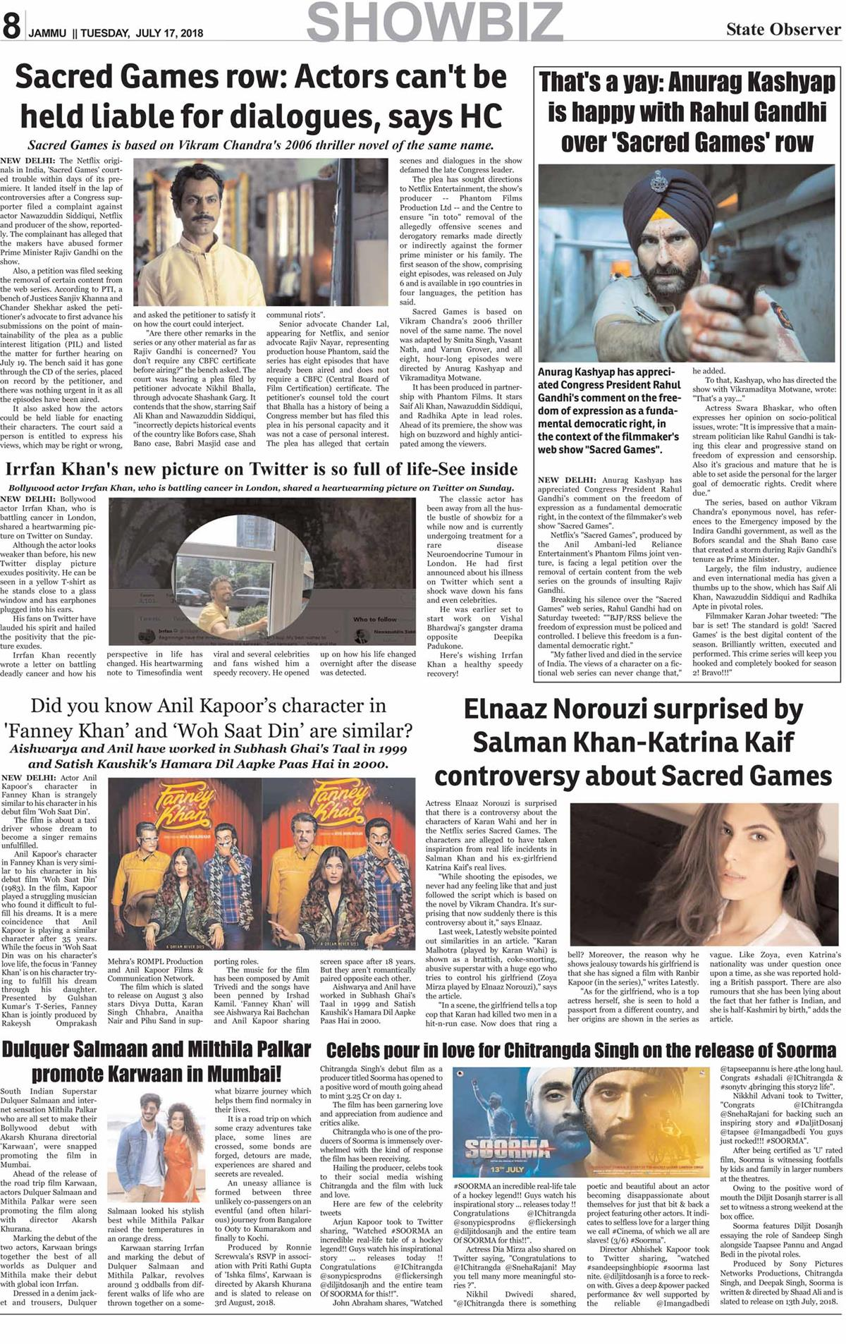 Daily State Observer